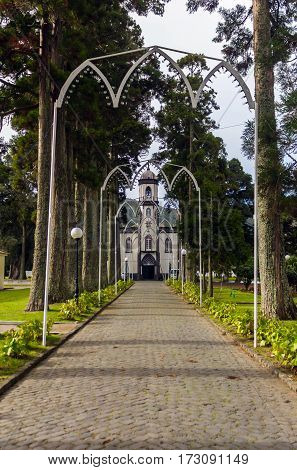 Church of Saint Nicholas in Sete Cidades on the island Sao Miguel, the Azores, Portugal