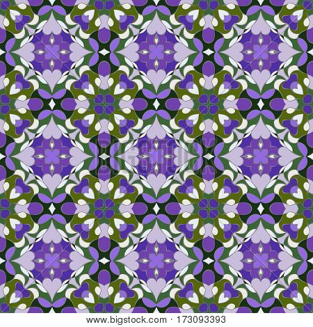 Lilac And Green Pattern