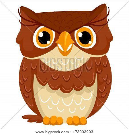 Vector Illustration of a Cute Owl Cartoon