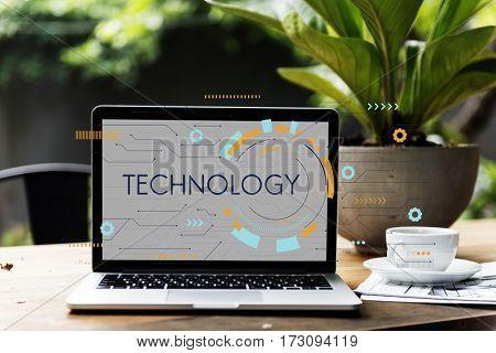 Technology Background Digital Computer Network