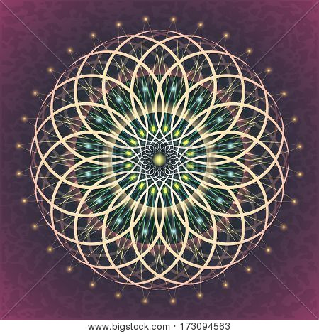 Symbols of sacred geometry depict fundamental aspects of space and time. Flower of life symbol variations.