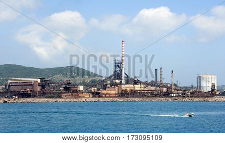 The Commercial Port Of Piombino
