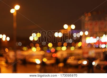 bright lights of the big city night
