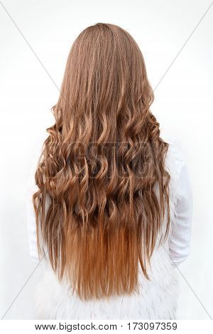 close-up hairstyles long hair curls curling isolated