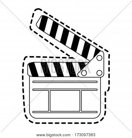 clapperboard cinema icon image vector illustration design