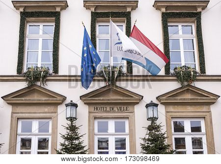 Grand Duchy of Luxembourg Luxembourg- January 032017: Hotel de Ville