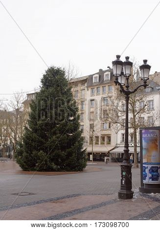 Grand Duchy of Luxembourg Luxembourg- January 032017: Citizens go on his own business outside