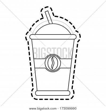 disposable cup of coffee icon image vector illustration design