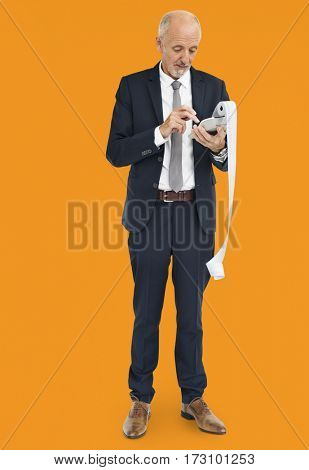 Businessman Calculating Financial Transaction Payment