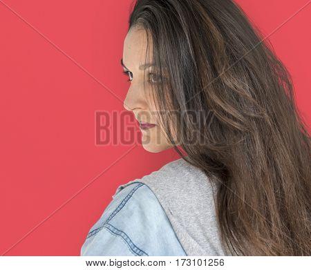 Woman Confidence Self Esteem Studio Portrait