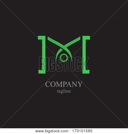 The letter M for the logo of the company. Vector illustration of the alphabet