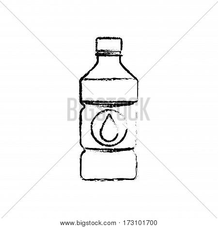 Cold water bottle icon vector illustration graphic design