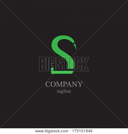 The letter S for the logo of the company. Vector illustration of the alphabet