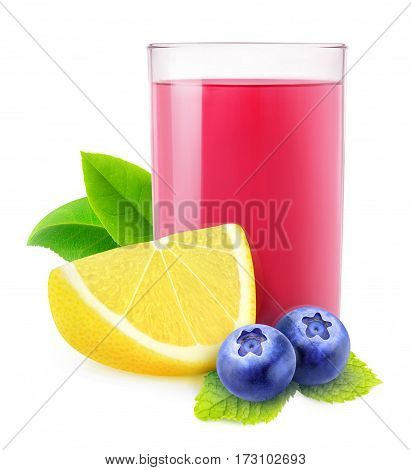 Isolated Blueberry Lemonade
