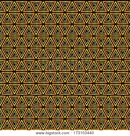 Seamless pattern background triangle, retro vintage design vector