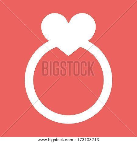 Wedding rings vector icon flat eps10 illustration