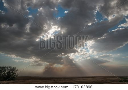 Stormy Clouds Ahtuba, Russia