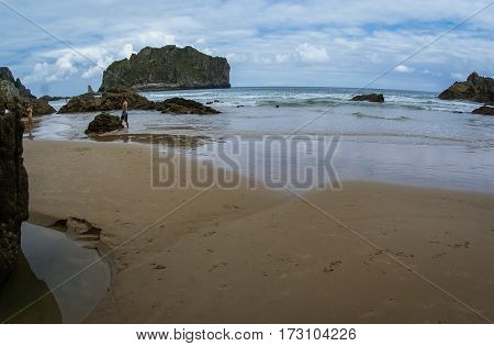 La Franca Beach,  Cantabria, Spain