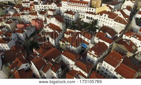 Top View of Alfama, Lisbon, Portugal