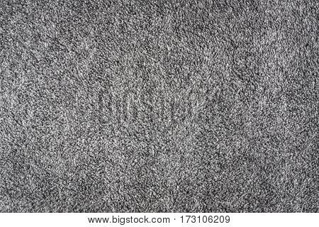 Grey Fleece Fabric Background Texture Top View.