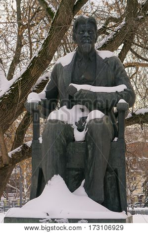 Moscow, Russia - January 17, 2017: Monument to Mikhail Kalinin. Sculptor Boris Dyuzhev. Moscow
