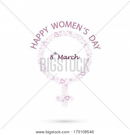 International women's day icon.Women's day symbol.Minimalistic design for international women's day concept.Vector illustration