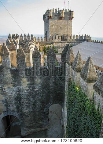 Image of medieval castle at Almodovar del Rio Cordoba Andalusia Spain