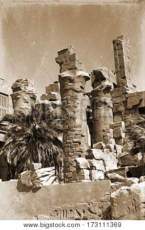 ruins of Amon-Ra temple in Luxor