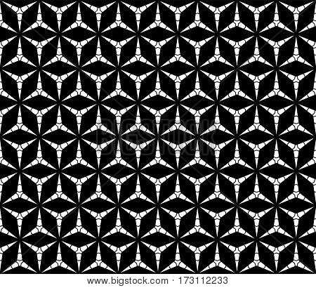 Vector seamless pattern, monochrome repeat triangular texture. Simple dark polygonal minimalist backdrop. Abstract endless background for tileable print. Design for prints, textile, digital, cover