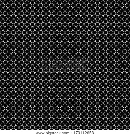 Vector monochrome seamless pattern, subtle geometric texture, dark illustration of thin mesh, lattice. Black & white simple abstract repeat background. Design element for prints, decoration, textile, furniture, digital, web