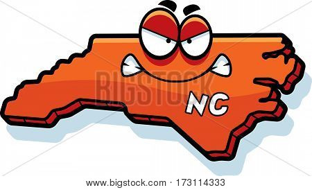 Cartoon Angry North Carolina