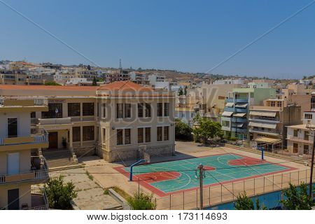 Rethymno, Greece - July  31, 2016: Panoramic View To Rethymno