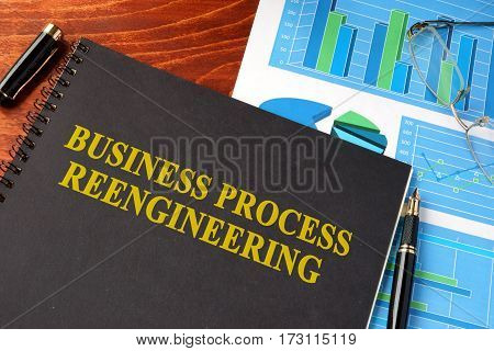 Book with title Business process reengineering BPR.