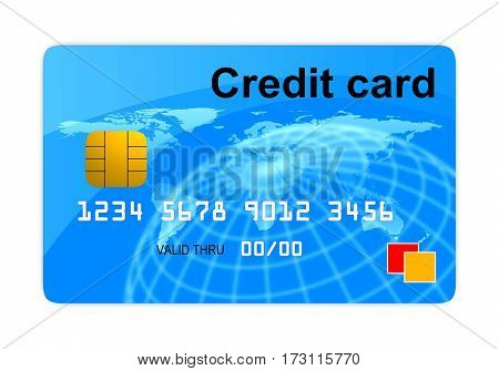 Credit Card Front View
