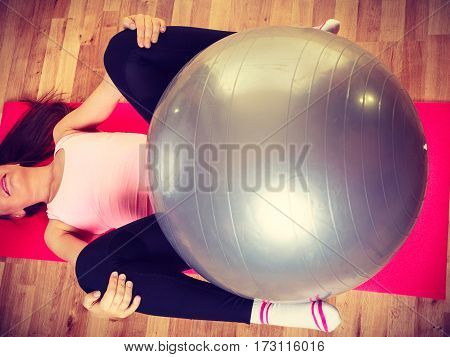 Young Woman Doing Workout.