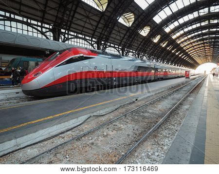 Italian Train In Milan
