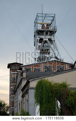 Old coal mine shaft in Knurow, Poland