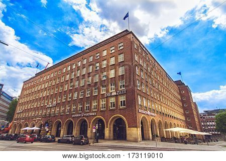 HAMBURG GERMANY - JUNE 10: The publishing house of Die Zeit Helmut Schmidt house in Hamburg in 2012