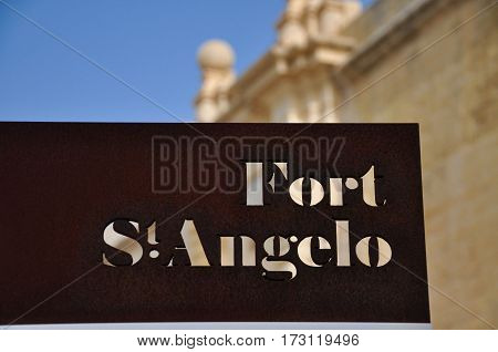 Fort Saint Angelo in Birgu, Malta, is a Fort buit by the Knights