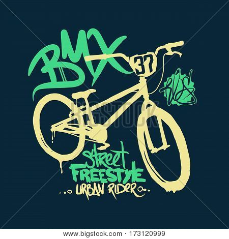 BMX t-shirt Graphics. Extreme bike street style
