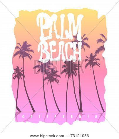 Palm Beach California T-Shirt graphic vector illustration