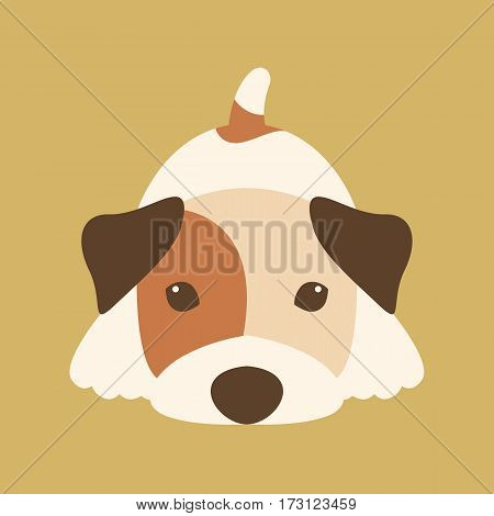 Terrier vector illustration style Flat front side