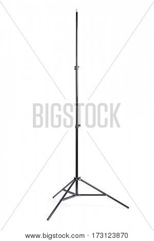 Studio light stand isolated on white