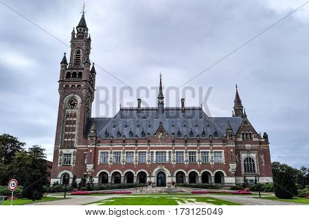 The Hague united nations court in Netherlands.