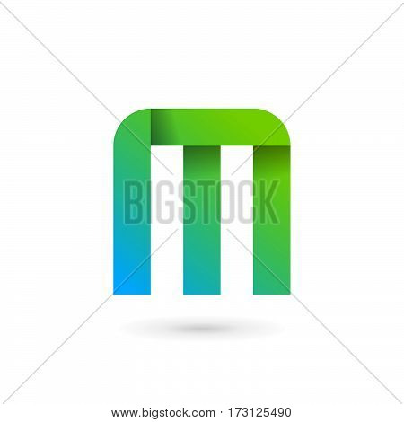 Letter M Ribbon Logo Icon Design Template Elements