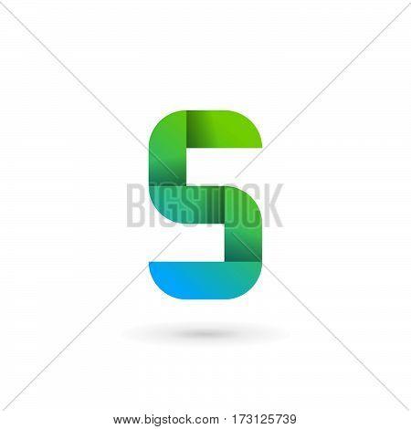 Letter S Ribbon Logo Icon Design Template Elements