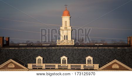 Old red brick  train station in Vicksburg Mississippi