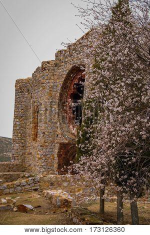 Ruins Of New Calatrava Castle Near Ciudad Real, Spain