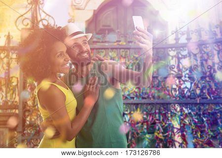 Couple celebrating the Carnival in Bahia, Brazil