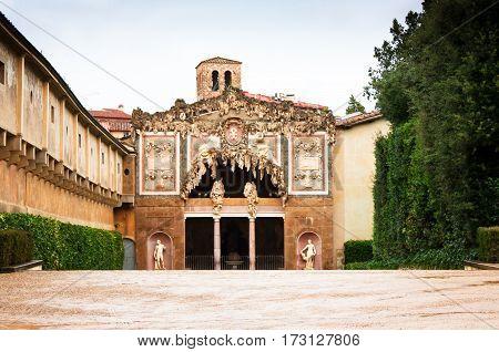 grotto Buontalenti in the Boboli gardens Florence Italy( Firenze)